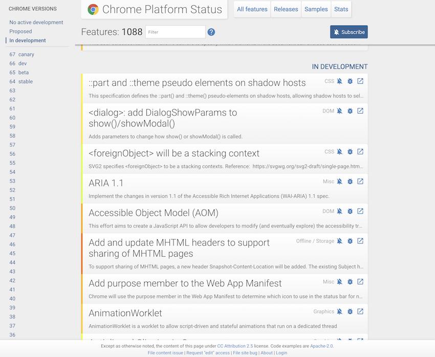 浏览器中渲染的 Chrome 状态